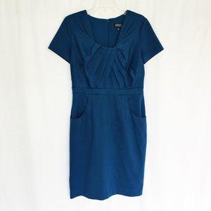 Adrianna Papell blue short sleeve dress 10